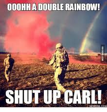 Double Rainbow Meme - ooohh a double rainbow shut up carl meme full com rainbows meme