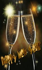 new years chagne glasses ƹӝʒ happy new year two chagne glasses with moving