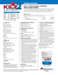 kilz 2 latex interior exterior water based primer kilz pdf