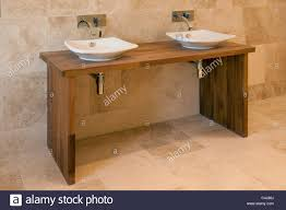 his and her bathroom contemporary his and hers wash basins stock photo royalty free