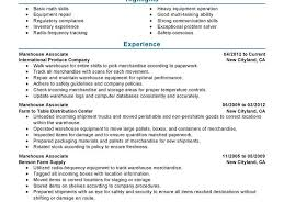 Resume Examples For Warehouse by Attractive Inspiration Warehouse Resume Samples 15 Best Warehouse