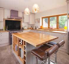 kitchen island worktops uk stylish breakfast bars in solid wood kitchens our top five table