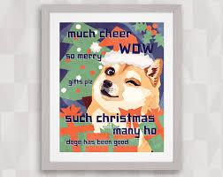 Doge Meme Christmas - risque christmas cards christmas lights decoration