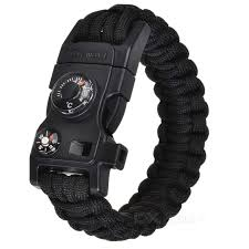 black survival bracelet images Ctsmart outdoor multifunctional survival paracord bracelet black jpg