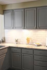 interior blue grey painted kitchen cabinets with regard to