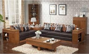 canapé en détente salon solide canapé en bois ensemble asie du sud salon