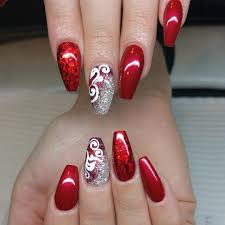 26 red and silver glitter nail art designs ideas design