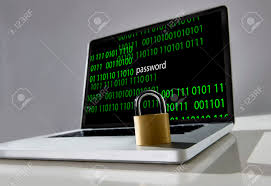 Lock Laptop To Desk by Locked Lock On Keyboard Of Computer Laptop With Binary Code And