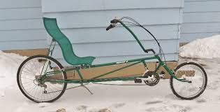 Recliner Bicycle by Recycled Recumbents