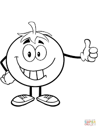 smiling tomato cartoon character coloring page free printable
