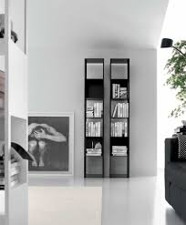narrow bookcase with doors modern bookcase also with a small shelf also with a unique