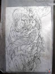 dragon phoenix tattoo design u2014 yoso tattoo