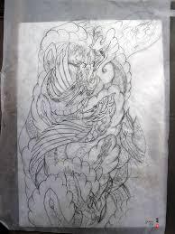 dragon phoenix tattoo design u2014 yoso tattoo
