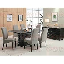 Amazoncom Coaster Home Furnishings  Contemporary Dining - Dining room tables black