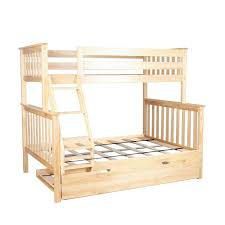 Hardwood Bunk Bed Max Solid Wood Bunk Bed With Trundle Bed Reviews Wayfair