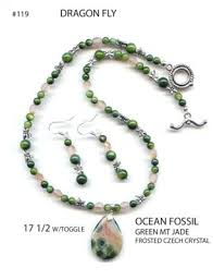 beaded stone necklace images Bead jewelry designs using natural stones jpg