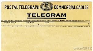 how do you send a telegram what is a telegram with pictures