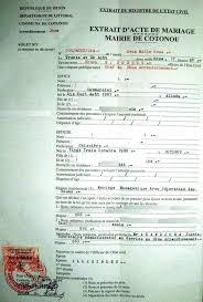 certificat de capacitã de mariage eregulations bénin