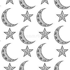 vintage black and white pattern for eid mubarak festival