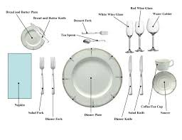 Informal Table Setting by Place Setting Chart The Dinner Party Pinterest Place Setting