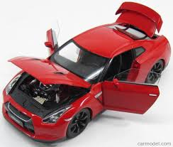 red nissan 2008 norev 188051 scale 1 18 nissan gt r r35 2008 red