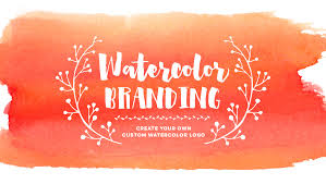 create your own custom watercolor logo youtube