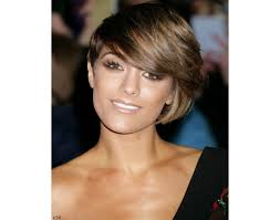 short haircuts on round faces hair style and color for woman