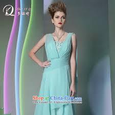 light blue silk dress doris qi western dress more than 2014 lai ki green silk dress