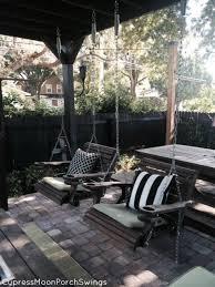 Porch Swing Fire Pit by Patio Swing Cypress Moon Porch Swings U0027s Blog