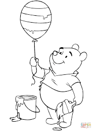 winnie pooh easter balloon coloring free printable