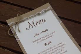 idee menu mariage supérieur idee repas mariage chetre 11 boite à dragées menu