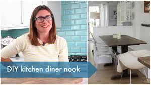 my diy kitchen diner nook heather at home youtube