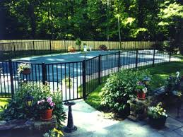Backyard Pool Fence Ideas Traditional Swimming Pool With Fence Exterior Brick Floors Home