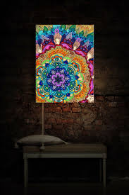 70 best led fiber optic neon and lights for art and home decor microcosm mandala illuminated art room by dianochedesignsdecor 149 00