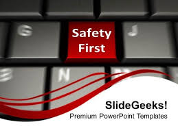 safety first concept business security powerpoint templates and