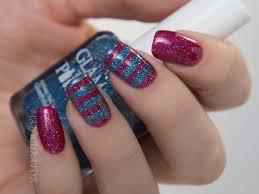 21 cute nail artwork designs employing tape nail design