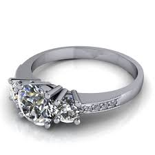 what is milgrain engagement ring with diamond and milgrain accents 3 4ct