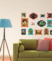 salon wall with wallpops frame decals poptalk create a salon wall with wallpops frame wall decals by jonathan adler