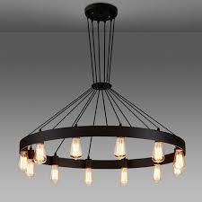 Iron Pendant Light Industrial American Loft Vintage Warehouse Black Iron Pendant