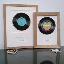 Vinyl Record Wall Mount Personalised Framed Vinyl Record By Vinyl Village