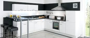 cuisine blanche et noir modele cuisine blanche modele cuisine blanche laquee