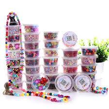 beaded bracelet kit images Colorful kids diy beads necklace with plastic jewelry beads for jpg