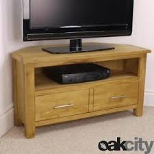 ebay tv cabinets oak nebraska modern oak corner tv unit solid wood tv stand oiled