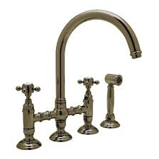 Polished Brass Kitchen Faucet Faucets Kitchen Faucets Bridge S U0026 A Supply Great Barrington