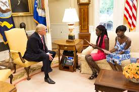 president trump hosts chibok schoolgirls at the white house