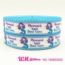 mermaid ribbon q n ribbon 1inch 25mm mermaid printed grosgrain ribbon 50yds roll