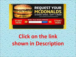 mcdonalds gift card discount hurry up get a free mcdonald s 1000 gift card