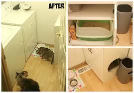 diy litter box furniture cabinet u0026 laundry room cleanup
