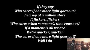 one light linkin park linkin park one more light lyrics youtube