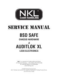 nkl auditlok xl and bsd safe service manual